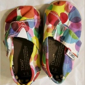 Tiny Tom's 3c Toddler Rainbow Polka Dots Velcro